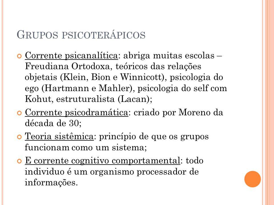 Grupos psicoterápicos