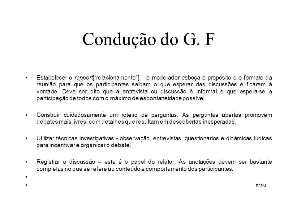 Condução do G. F