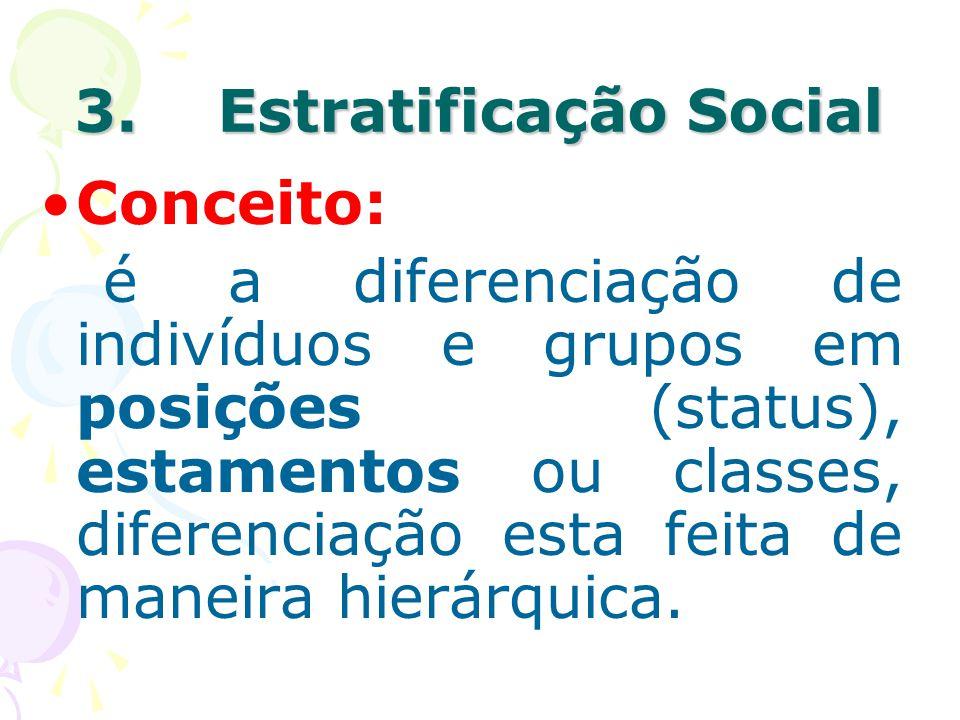 3. Estratificação Social