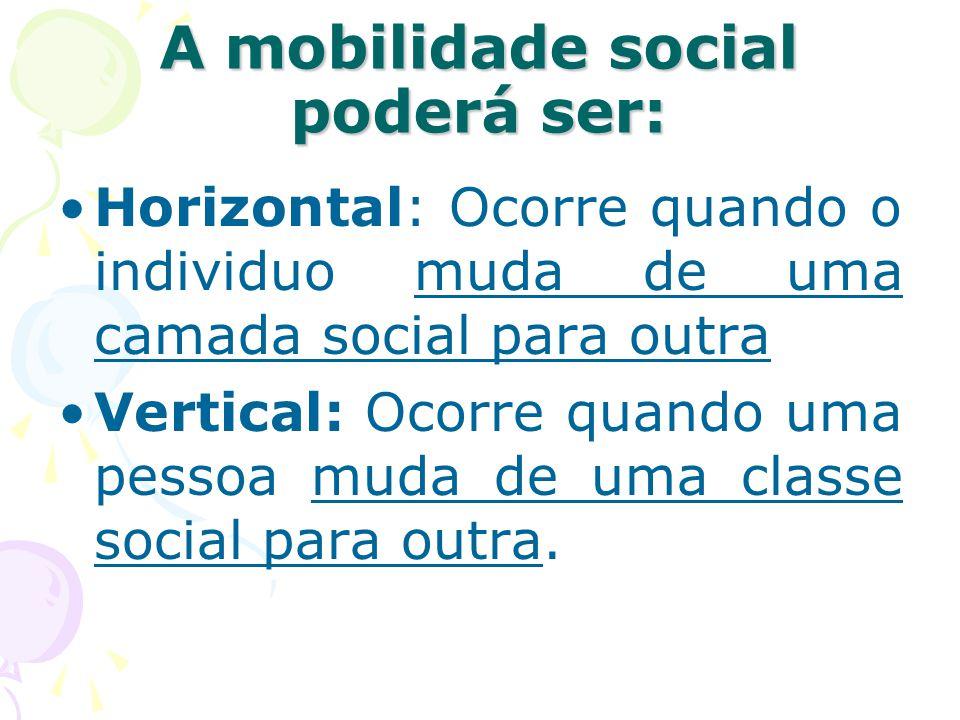 A mobilidade social poderá ser: