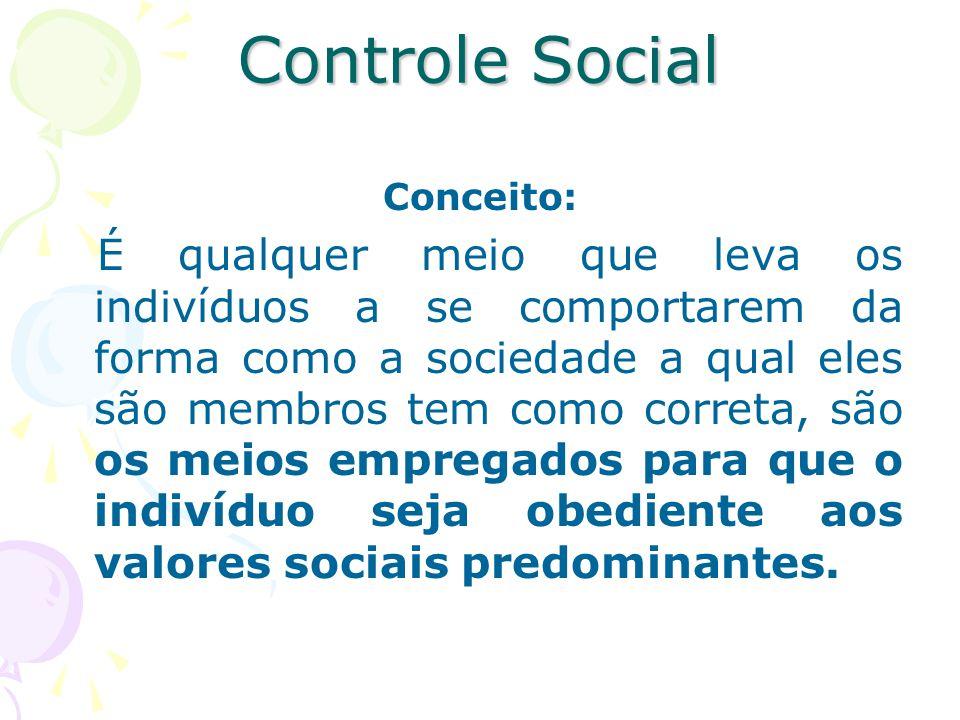 Controle Social Conceito: