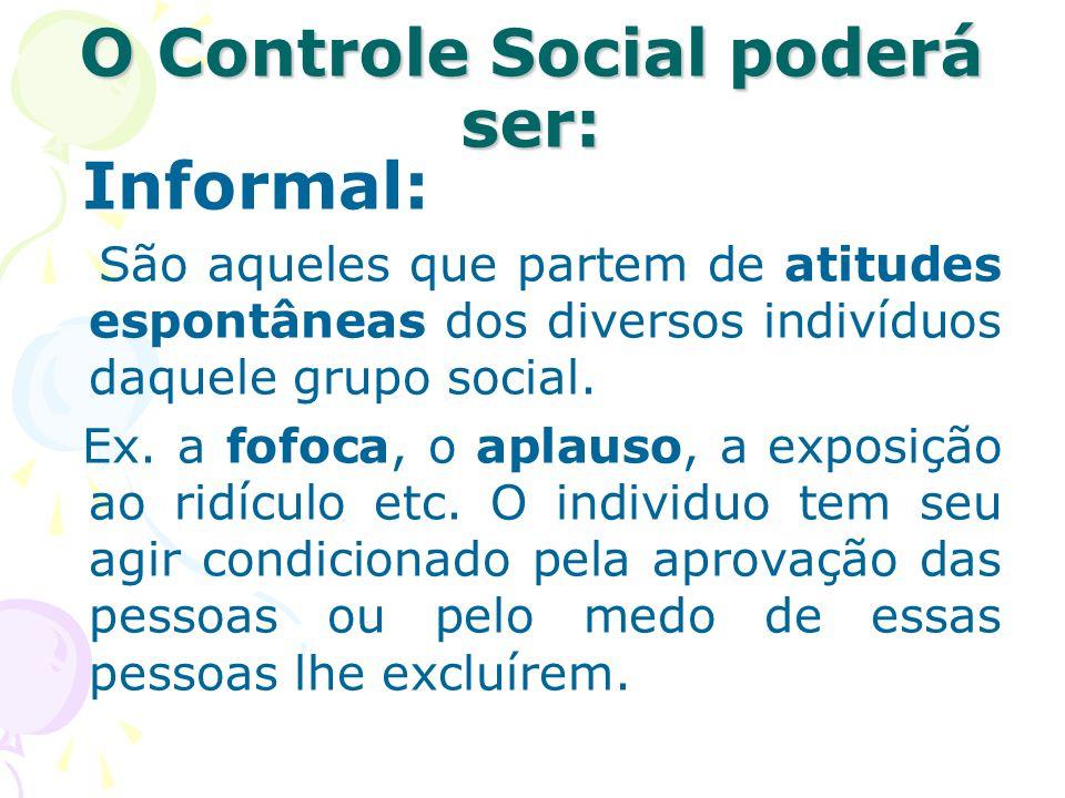 O Controle Social poderá ser: