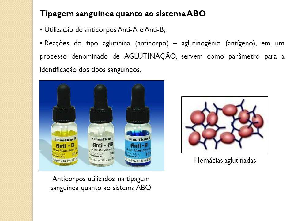 Anticorpos utilizados na tipagem sanguínea quanto ao sistema ABO