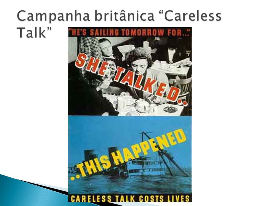 Campanha britânica Careless Talk