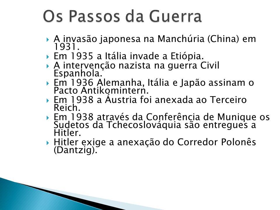 Os Passos da Guerra A invasão japonesa na Manchúria (China) em 1931.