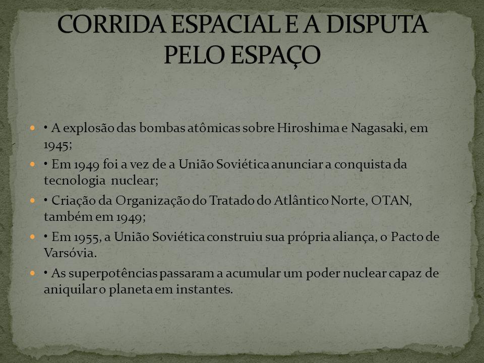 CORRIDA ESPACIAL E A DISPUTA PELO ESPAÇO