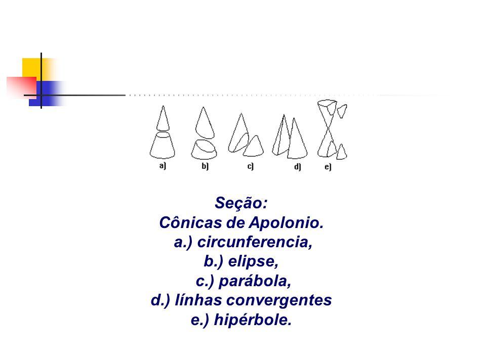 d.) línhas convergentes