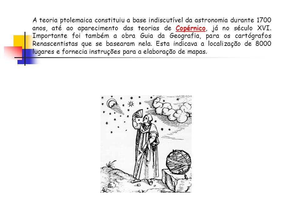 A teoria ptolemaica constituiu a base indiscutível da astronomia durante 1700 anos, até ao aparecimento das teorias de Copérnico, já no século XVI.