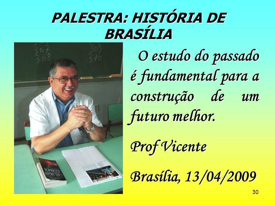 PALESTRA: HISTÓRIA DE BRASÍLIA