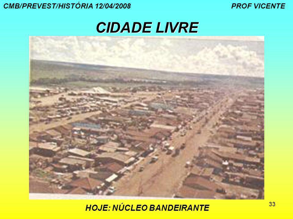 CIDADE LIVRE CMB/PREVEST/HISTÓRIA 12/04/2008 PROF VICENTE