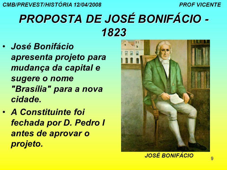 PROPOSTA DE JOSÉ BONIFÁCIO - 1823