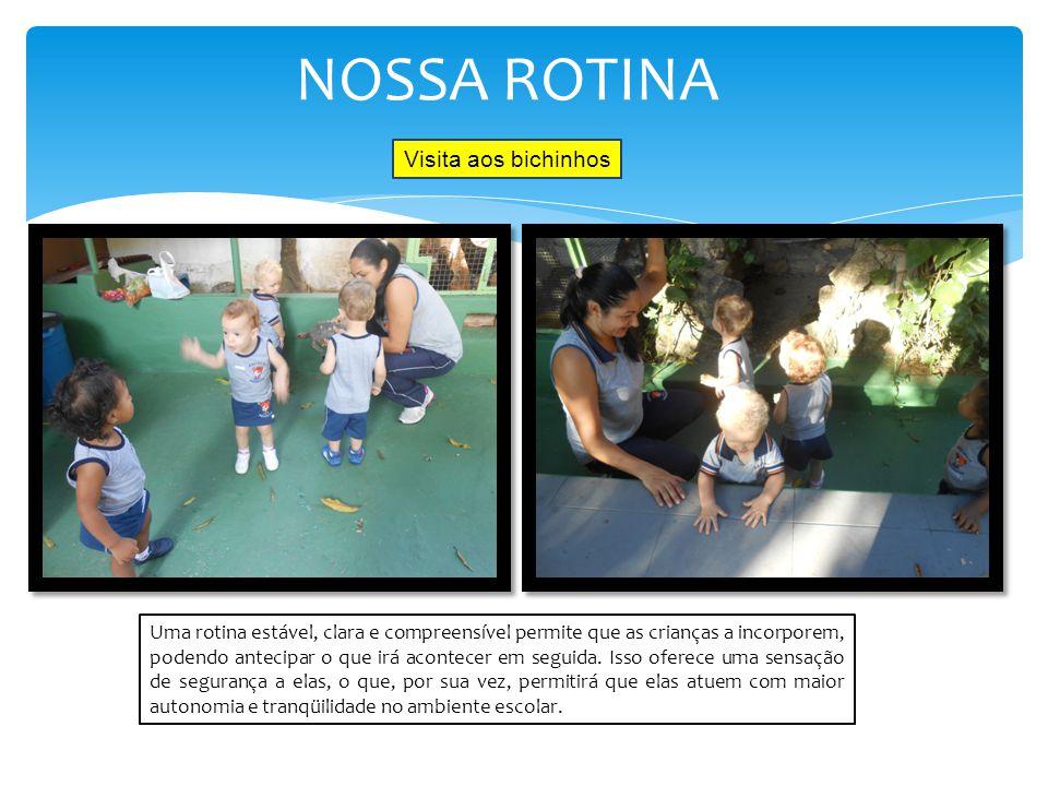 NOSSA ROTINA Visita aos bichinhos