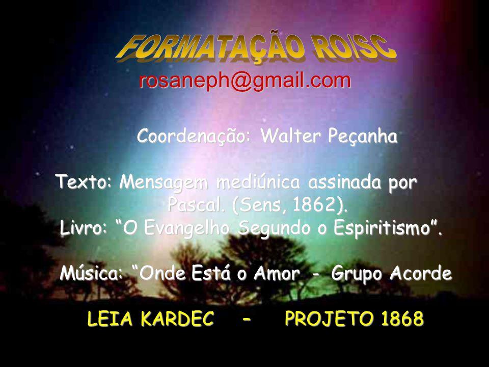 FORMATAÇÃO RO/SC rosaneph@gmail.com Coordenação: Walter Peçanha