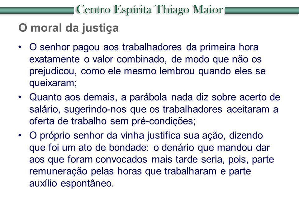O moral da justiça