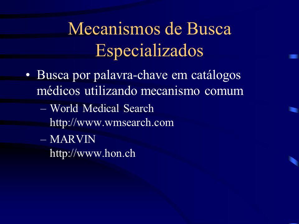 Mecanismos de Busca Especializados