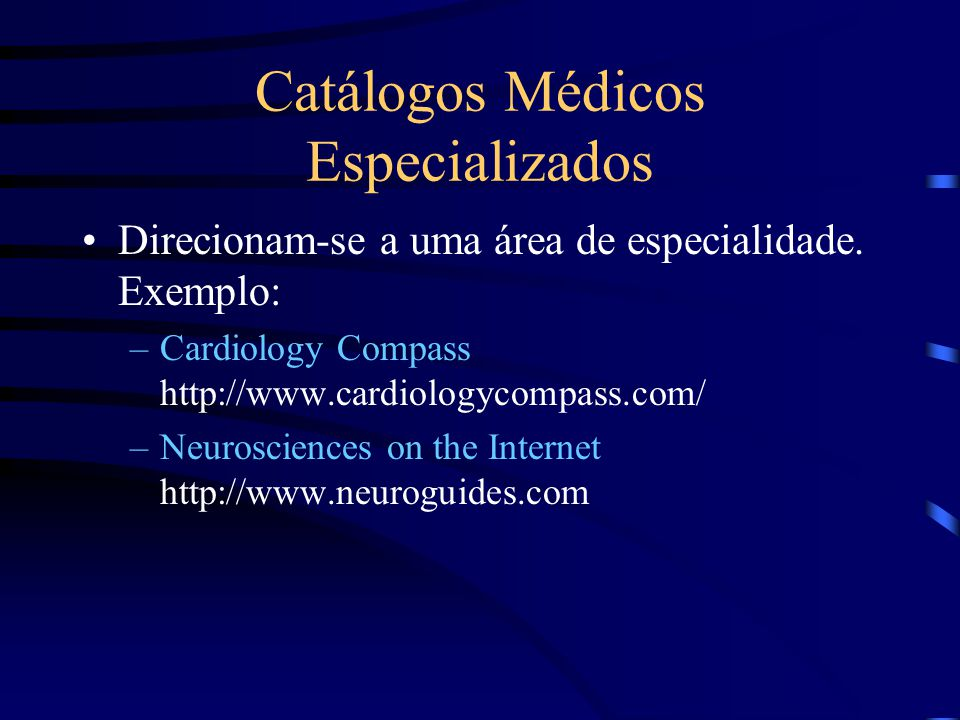 Catálogos Médicos Especializados