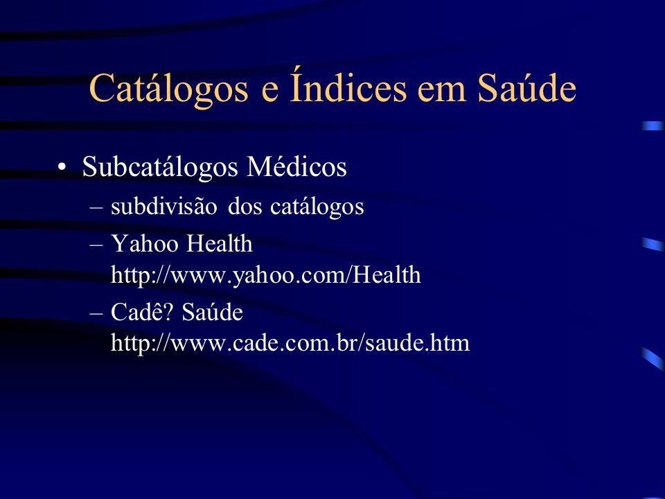 Catálogos e Índices em Saúde