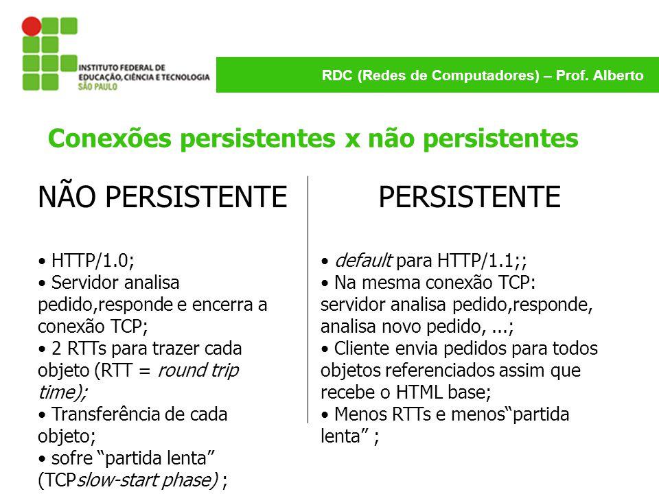 Conexões persistentes x não persistentes