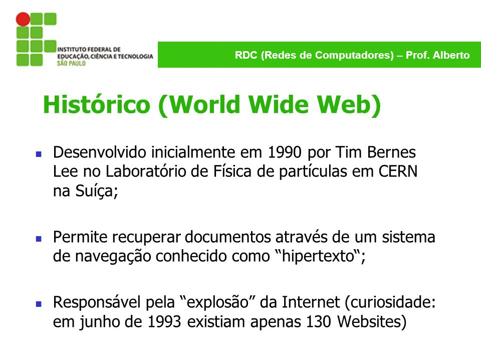 Histórico (World Wide Web)