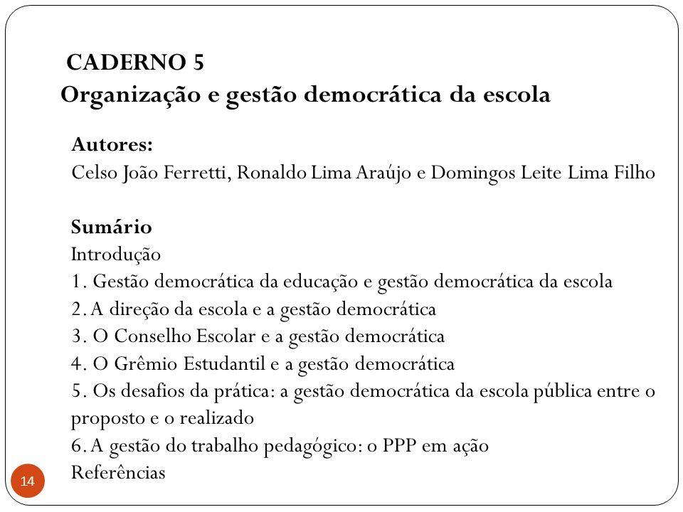 Organização e gestão democrática da escola