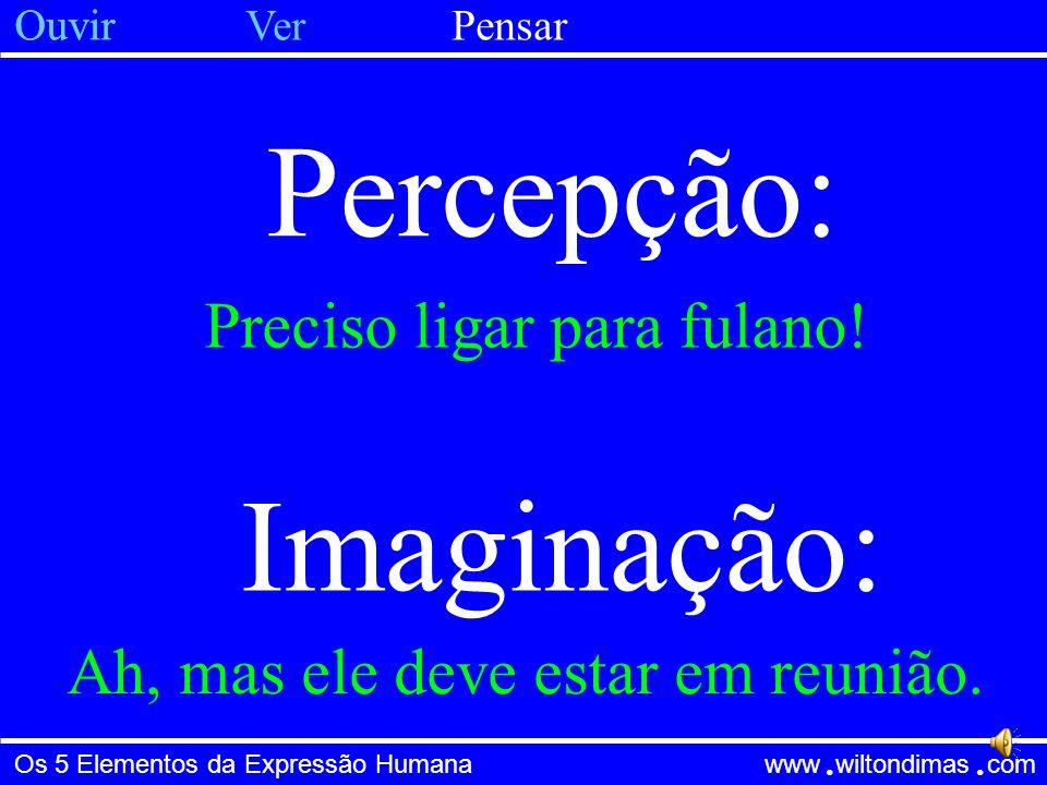 Percepção: Imaginação: Preciso ligar para fulano!