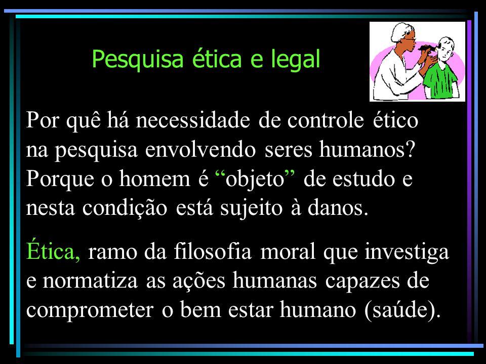 Pesquisa ética e legal