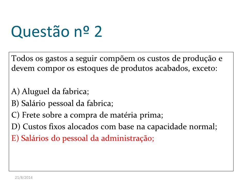 Questão nº 2