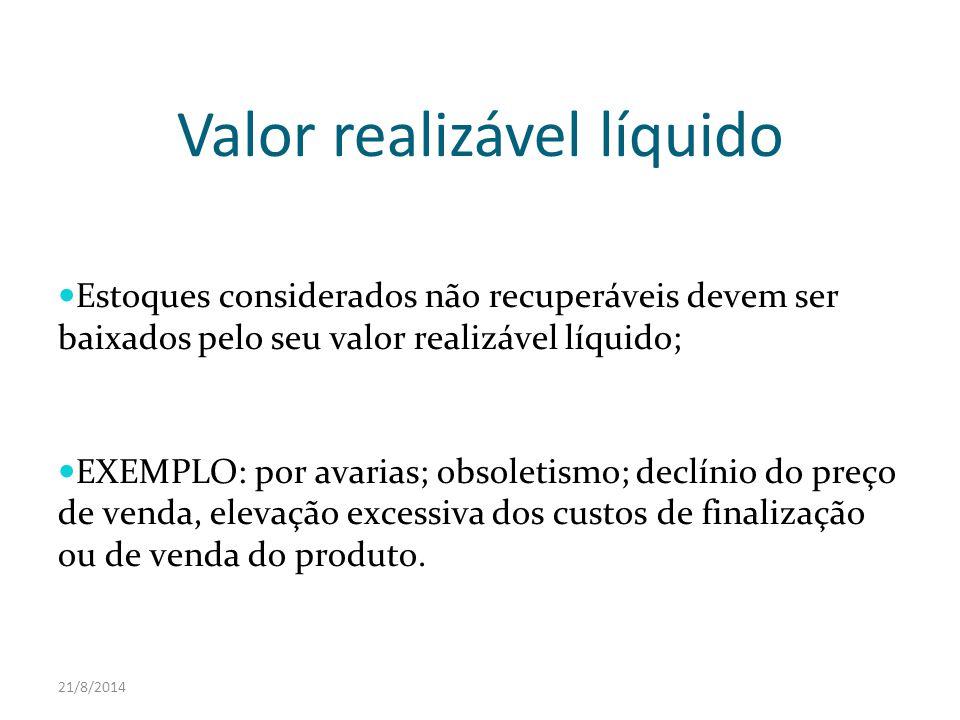 Valor realizável líquido