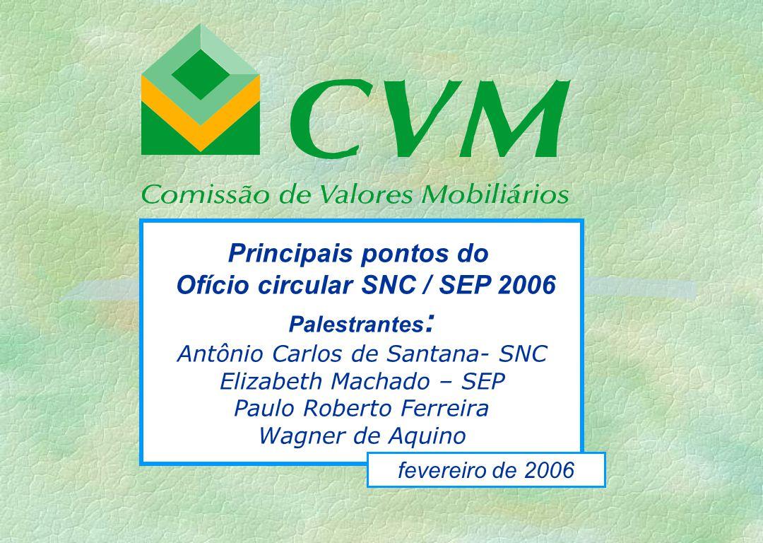 Ofício circular SNC / SEP 2006