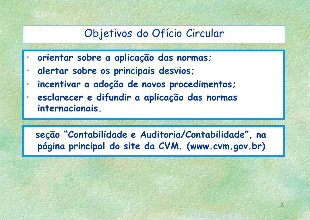 Objetivos do Ofício Circular