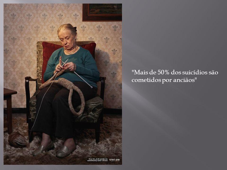 Mais de 50% dos suicídios são cometidos por anciãos