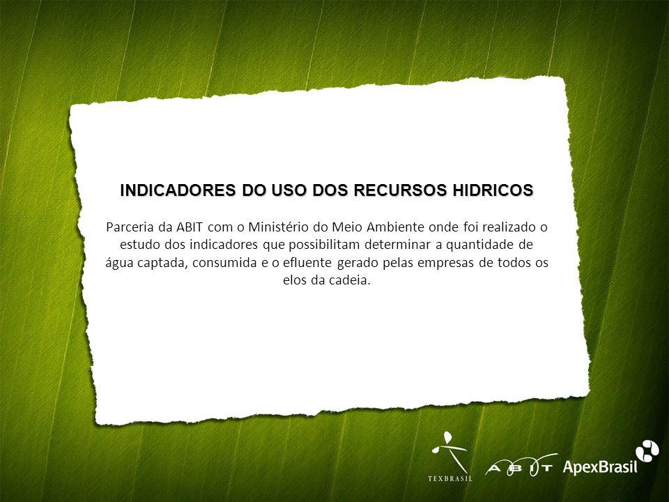 INDICADORES DO USO DOS RECURSOS HIDRICOS