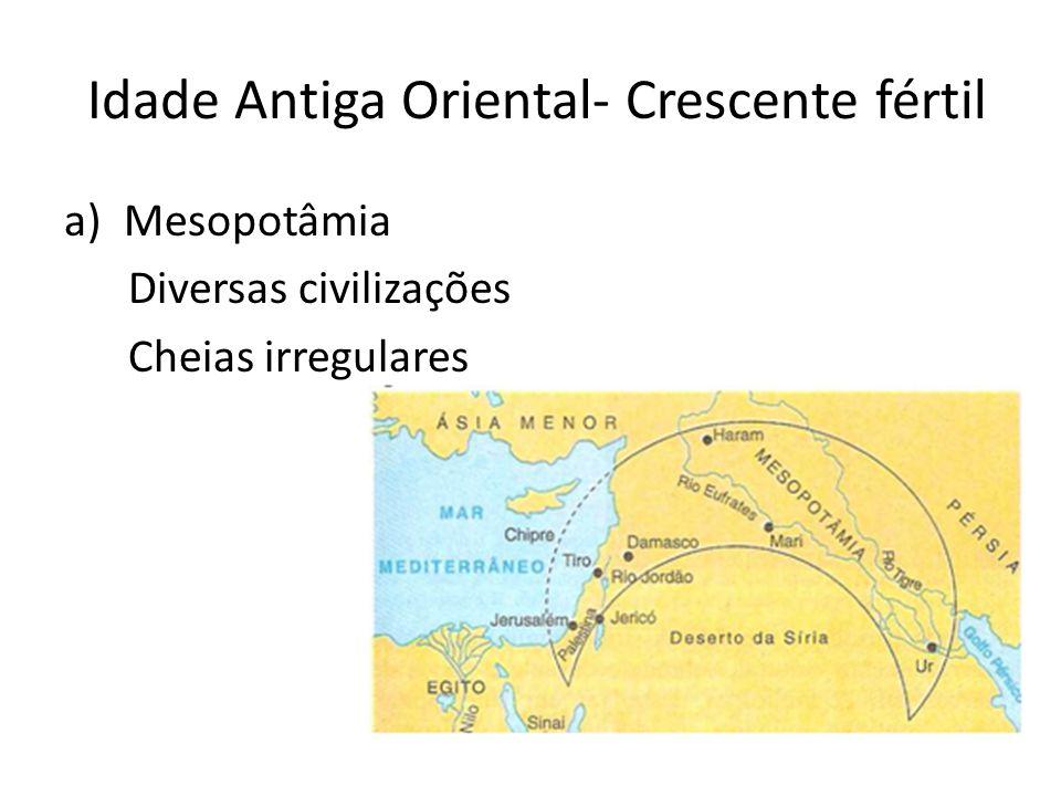 Idade Antiga Oriental- Crescente fértil