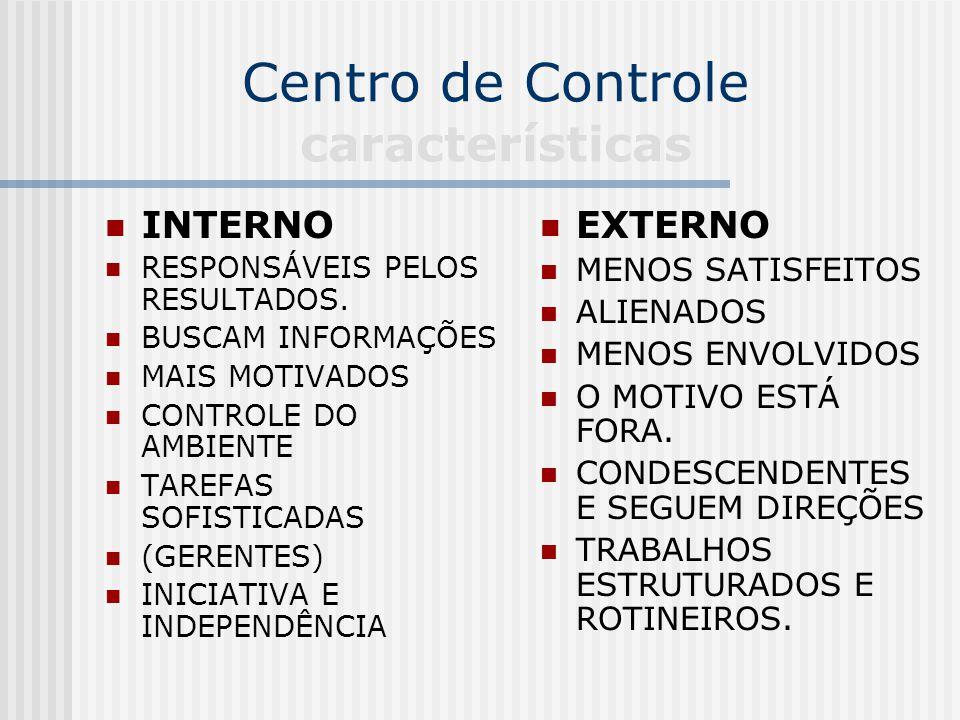 Centro de Controle características