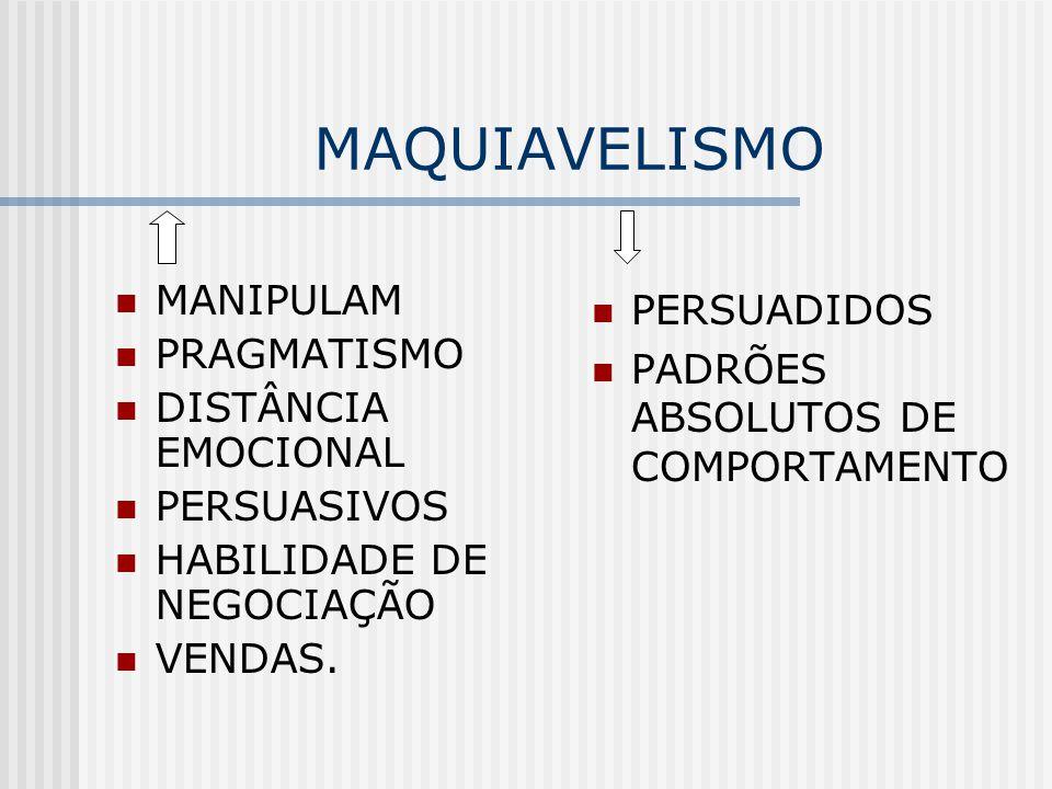 MAQUIAVELISMO MANIPULAM PERSUADIDOS PRAGMATISMO