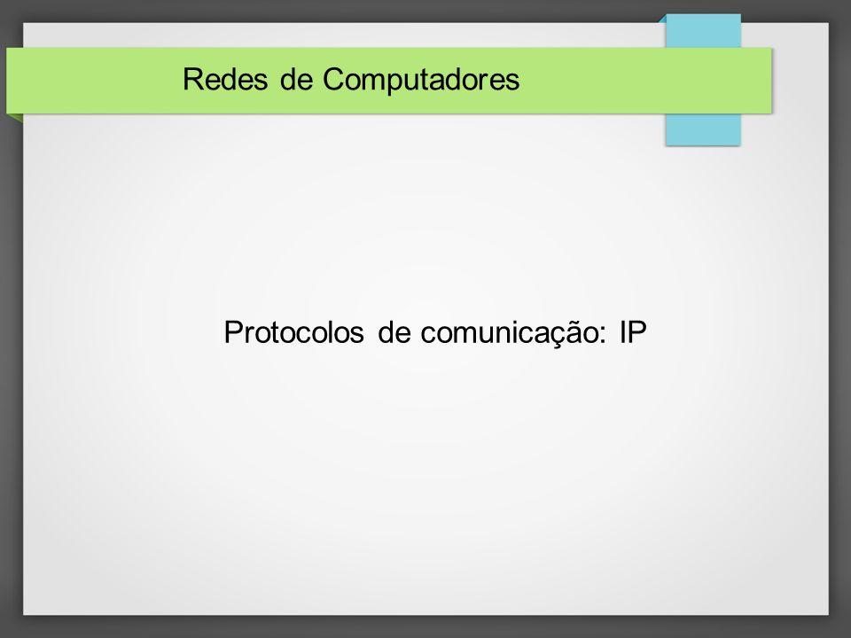 Protocolos de comunicação: IP