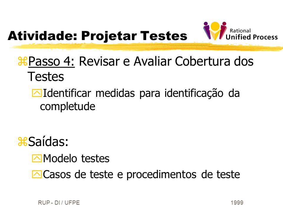 Atividade: Projetar Testes