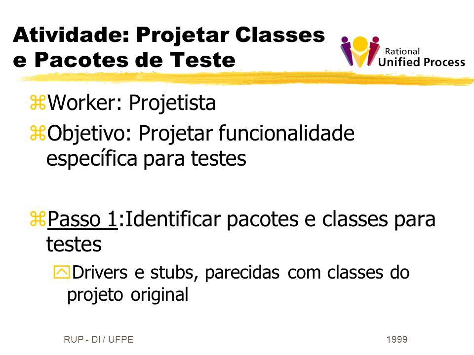 Atividade: Projetar Classes e Pacotes de Teste