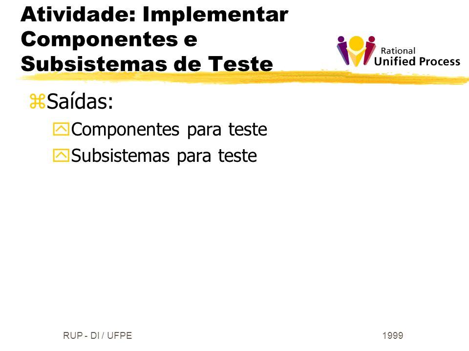 Atividade: Implementar Componentes e Subsistemas de Teste