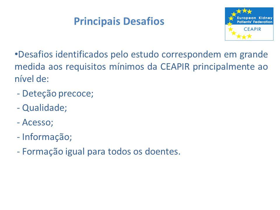 Principais Desafios Desafios identificados pelo estudo correspondem em grande medida aos requisitos mínimos da CEAPIR principalmente ao nível de: