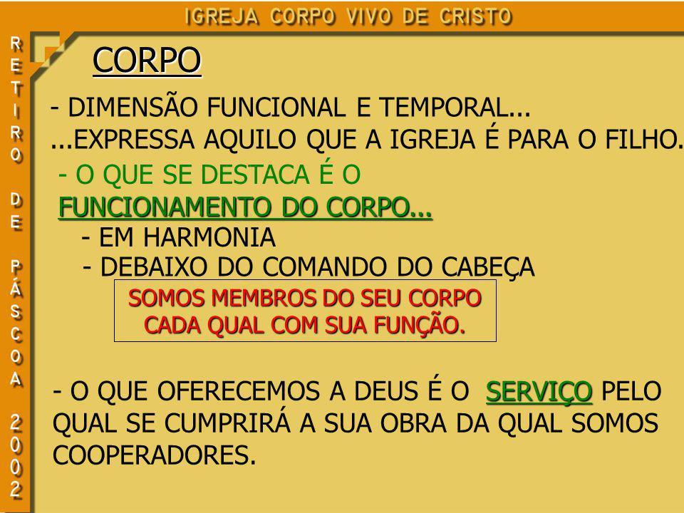 CORPO - DIMENSÃO FUNCIONAL E TEMPORAL...