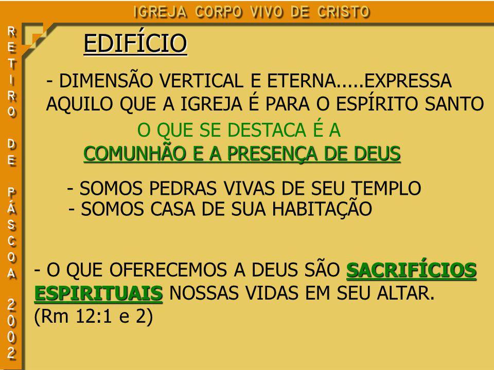 COMUNHÃO E A PRESENÇA DE DEUS