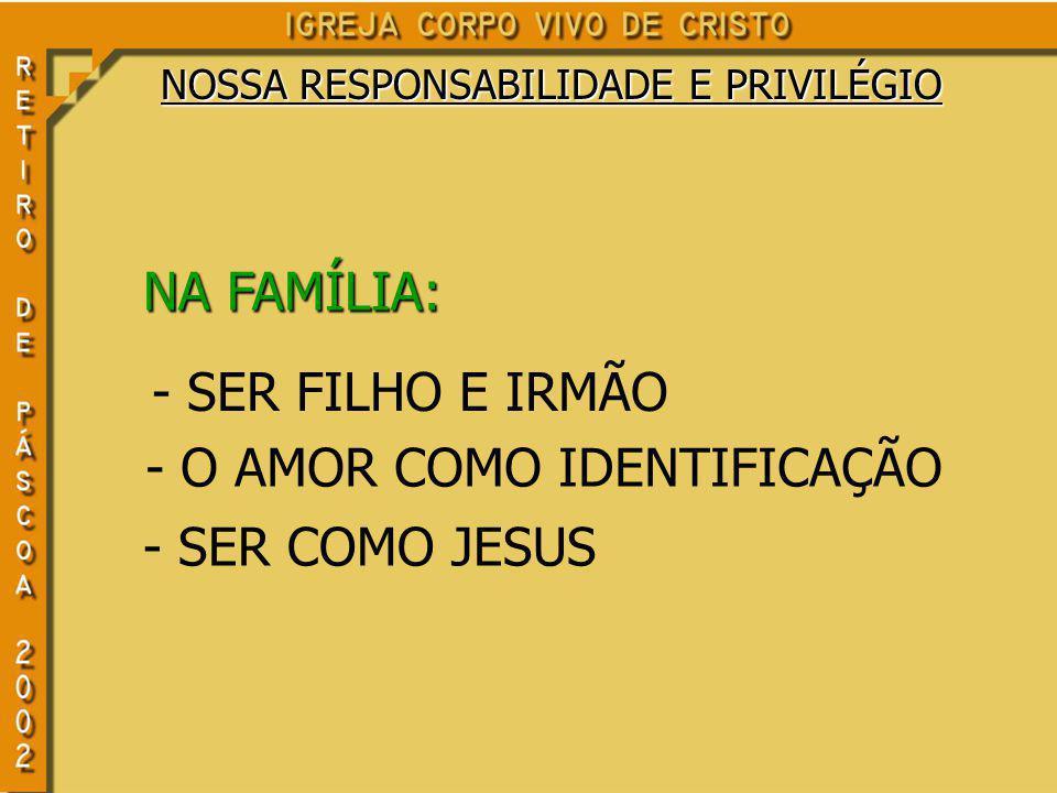 - O AMOR COMO IDENTIFICAÇÃO