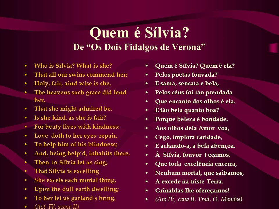 Quem é Sílvia De Os Dois Fidalgos de Verona