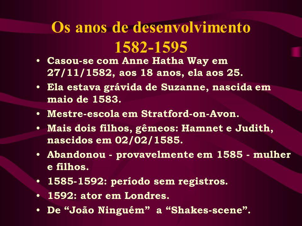 Os anos de desenvolvimento 1582-1595