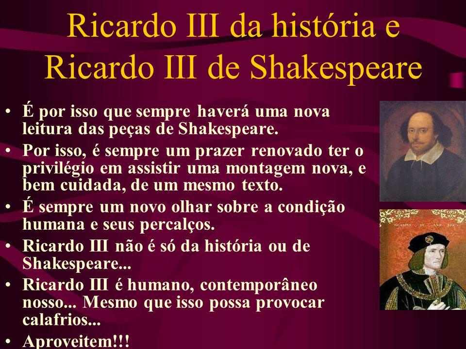 Ricardo III da história e Ricardo III de Shakespeare