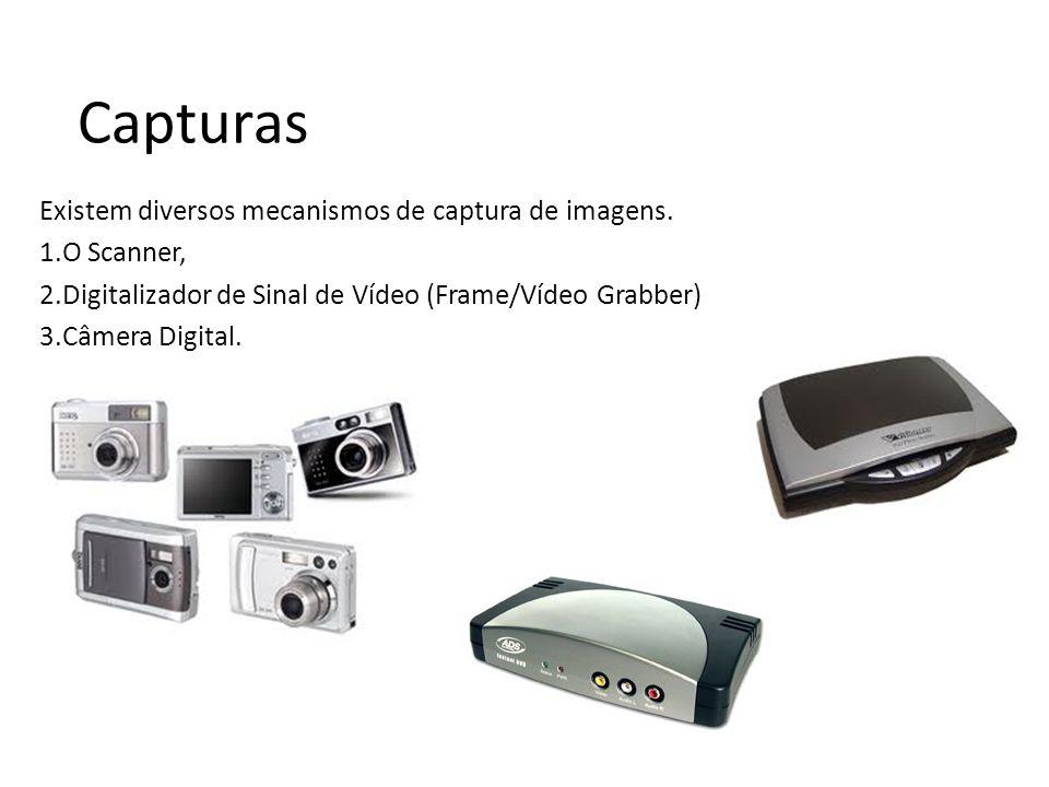 Capturas Existem diversos mecanismos de captura de imagens.