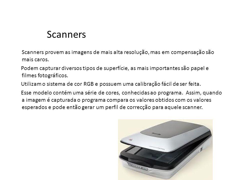 Scanners Scanners provem as imagens de mais alta resolução, mas em compensação são mais caros.