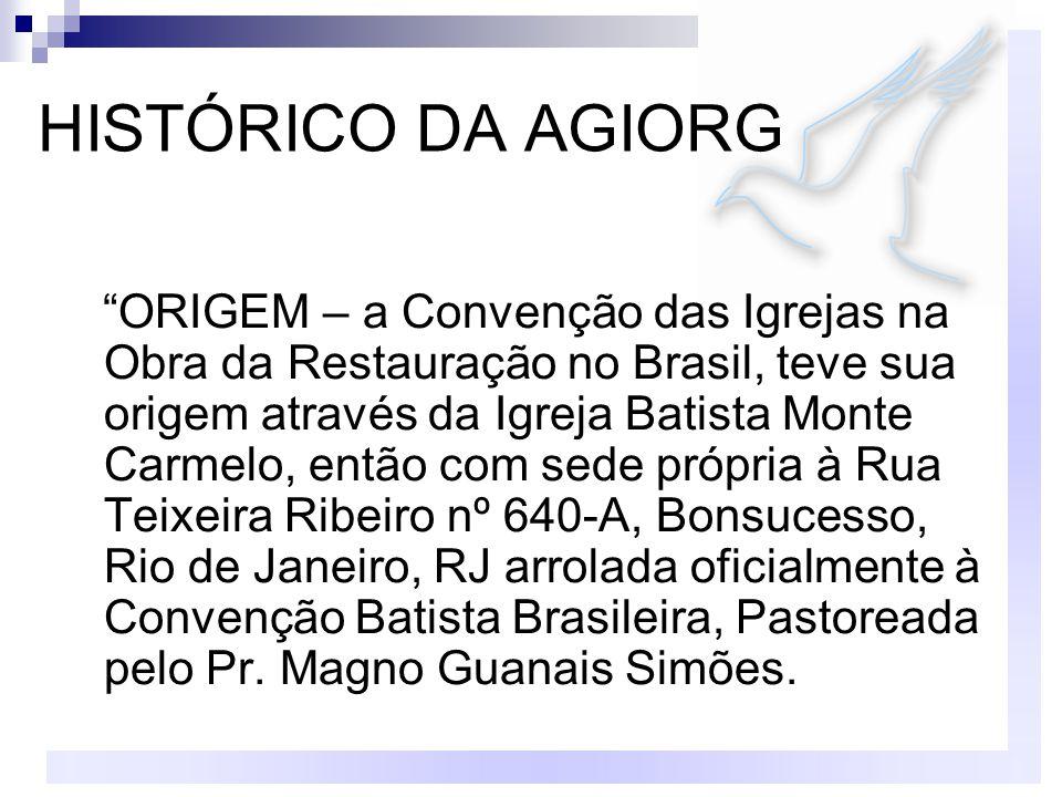 HISTÓRICO DA AGIORG