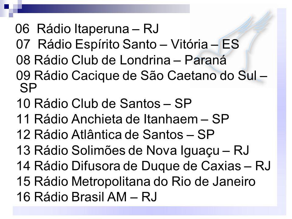 07 Rádio Espírito Santo – Vitória – ES